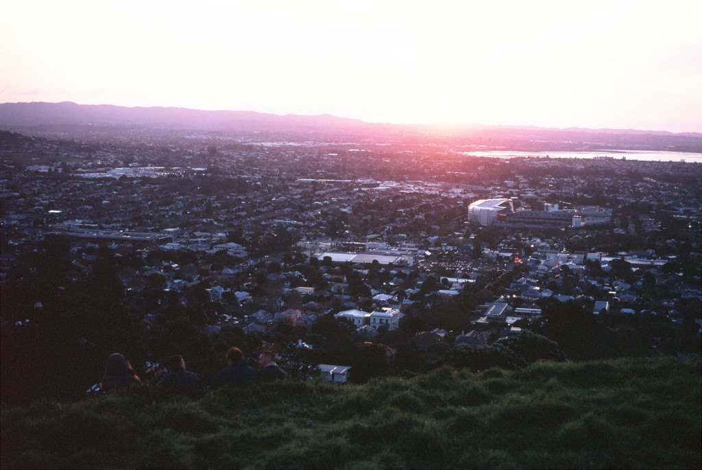 Sunset at Mount Eden.