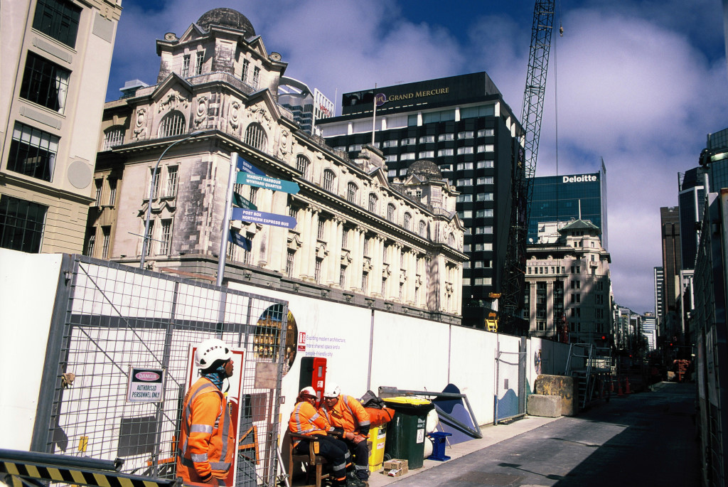 Construction work in Britomart.